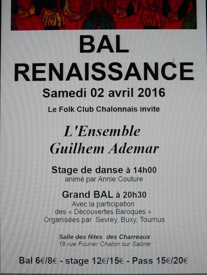 Photo affiche bal renaissance 3